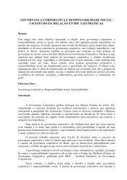 governança corporativa e responsabilidade social - CCN ...