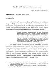 PROJETO CANTO MAIOR: uma história a ser contada ... - serex 2012