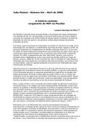 João Pessoa - Número Um - Abril de 2000 A história contada ...