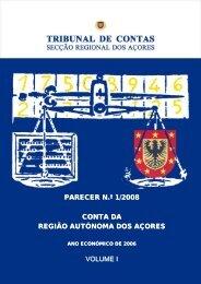 PARECER N.º 1/2008 CONTA DA REGIÃO AUTÓNOMA DOS ...