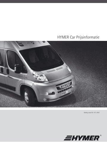 HYMER Car Prijsinformatie
