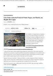 Lixo toma conta da Praia de Ponta Negra, em Maricá, na Região ...