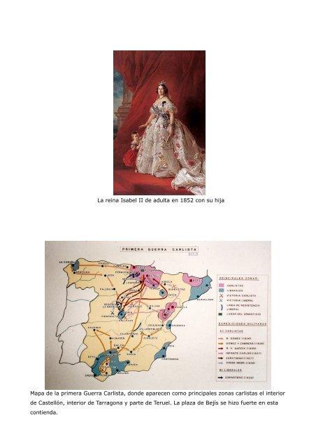 Primera Guerra Carlista Mapa.Antiguo Grabado De El Gen