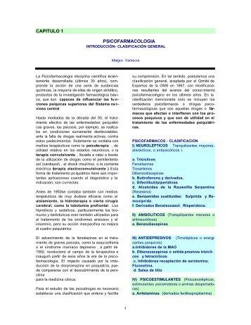 CAPITULO 1 PSICOFARMACOLOGIA