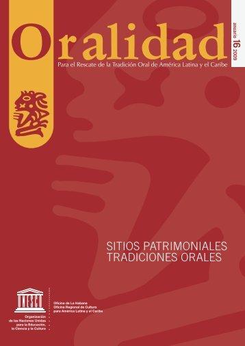 oralidad - Unesco