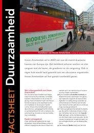 Duurzaamheid - Haven Amsterdam