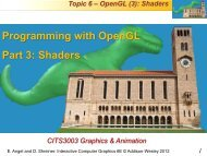 Programming in OpenGL 3 - Undergraduate