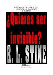 FANTASMAS DE FEAR STREET ¿QUIERES SER INVISIBLE? R. L. ...