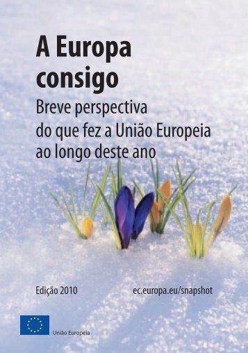 A Europa consigo: breve perspectiva do que fez a União Europeia ...