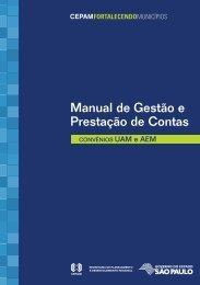 Manual de Gestão e Prestação de Contas CONVÊNIOS