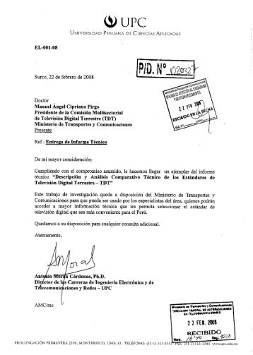 Version Final - Ministerio de Transportes y Comunicaciones