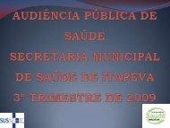 3º Trimestre de 2009 - Itapeva