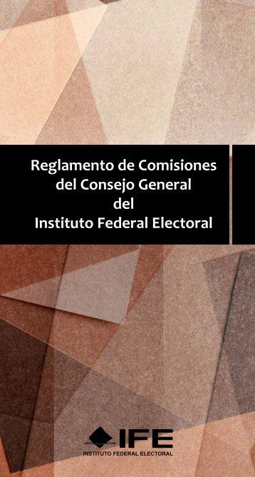 Reglamento de Comisiones del Consejo General del Instituto ...