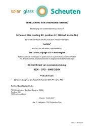 Isolide EN 1279-5, bijlage ZA = isolat - Scheuten
