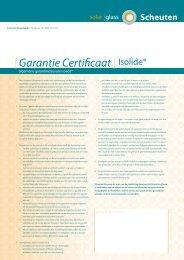 Garantie Certificaat - Scheuten