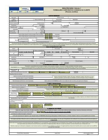 Formulario Corporativo Conozca su Cliente (Persona ... - BN Fondos