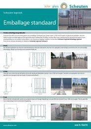 Datasheet emballage standaard (858kB) - Scheuten