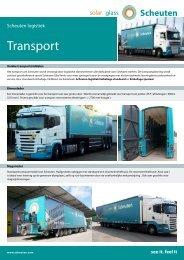 Datasheet transport - Scheuten