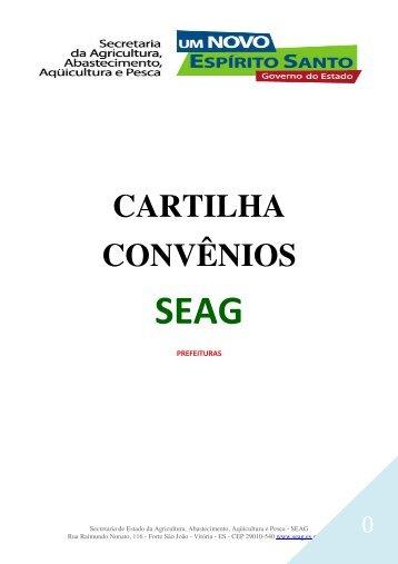 CARTILHA CONVÊNIOS - Seag