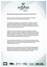 Mapa debate sistemas participativos de garantia durante Rio+20 ...