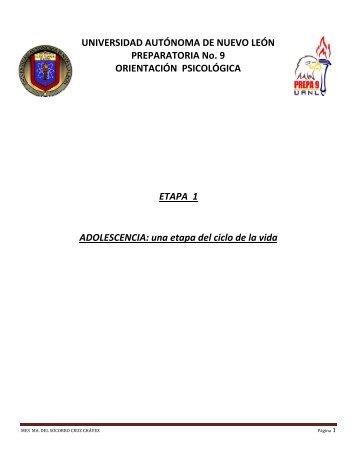 Etapa 1 – Actividades - Preparatoria 9 - Universidad Autónoma de ...