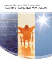 Photovoltaik – Energie ohne Wenn und Aber