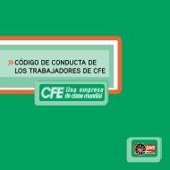CÓDIGO DE CONDUCTA DE LOS TRABAJADORES DE CFE