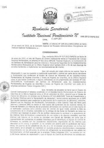 1 5 Mii'll] 2012 - Instituto Nacional Penitenciario