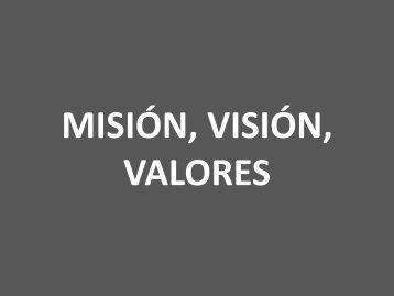 Misión, visión, valores - Emi