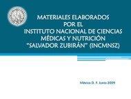 Nutrición INCMyN SZ - Subsecretaría de Educación Básica