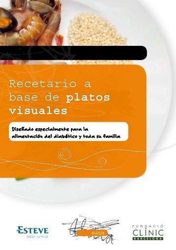 Recetario a base de platos visuales - Diabetes a la carta