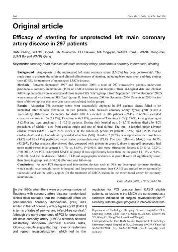 Original article - Chinese Medical Journal