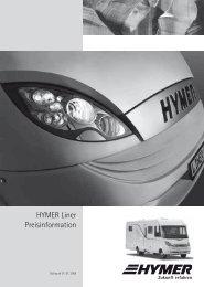 HYMER Liner Preisinformation