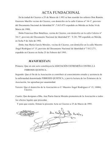 ACTA FUNDACIONAL - COCEMFE Cáceres