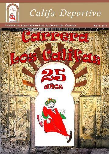 xxv aniversario carrera los califas - Bienvenidos al Web del Club ...