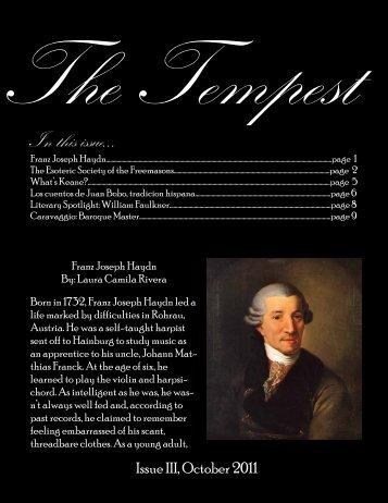 The Tempest - Saint John's School