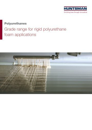 Grade range for rigid polyurethane foam applications