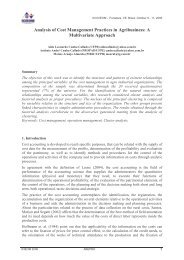 Analysis of Cost Management Practices in Agribusiness: A ... - Abepro
