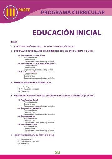 EDUCACIÓN INICIAL III - Educación Básica Regular - Ministerio de ...
