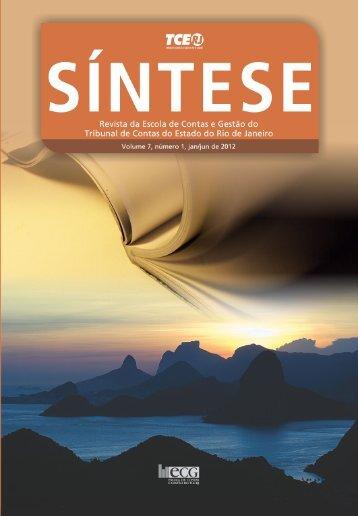 Revista SÍNTESE, v 7, n. 1, jan/jun de 2012. - ECG / TCE-RJ ...
