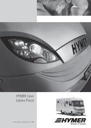 HYMER Liner Listino Prezzi