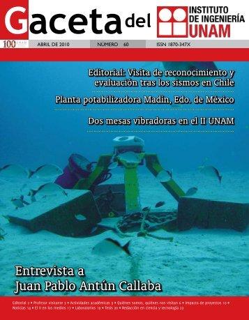 Entrevista a Juan Pablo Antún Callaba - Instituto de Ingeniería, UNAM