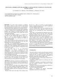 Efecto de la modificación del pH sobre la lixiviación de cationes en ...