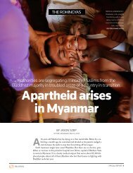 Apartheid arises in Myanmar