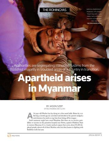 Apartheid arises in Myanmar