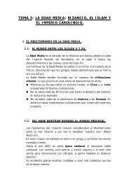 tema 5: la edad media - Colegio Ramón Carande