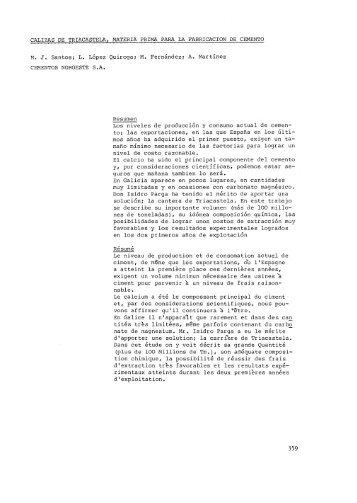 Calizas de Triacastela, materia prima para la fabricación de ... - RUC