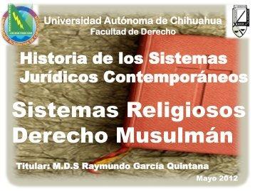 Sistemas Religiosos MD GARCÍA QUINTANA.pdf - Facultad de ...