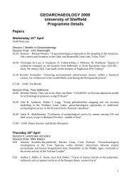 Detailed Programme (9 Apr 2009) - University of Sheffield