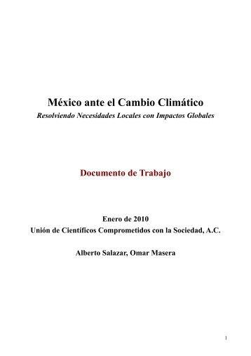 México ante el Cambio Climático - Unión de Científicos ...